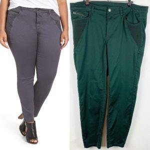Love & Legend Forest Green Skinny Pants 14
